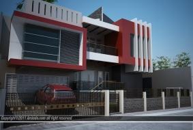 Rumah Modern Minimalis Split Level
